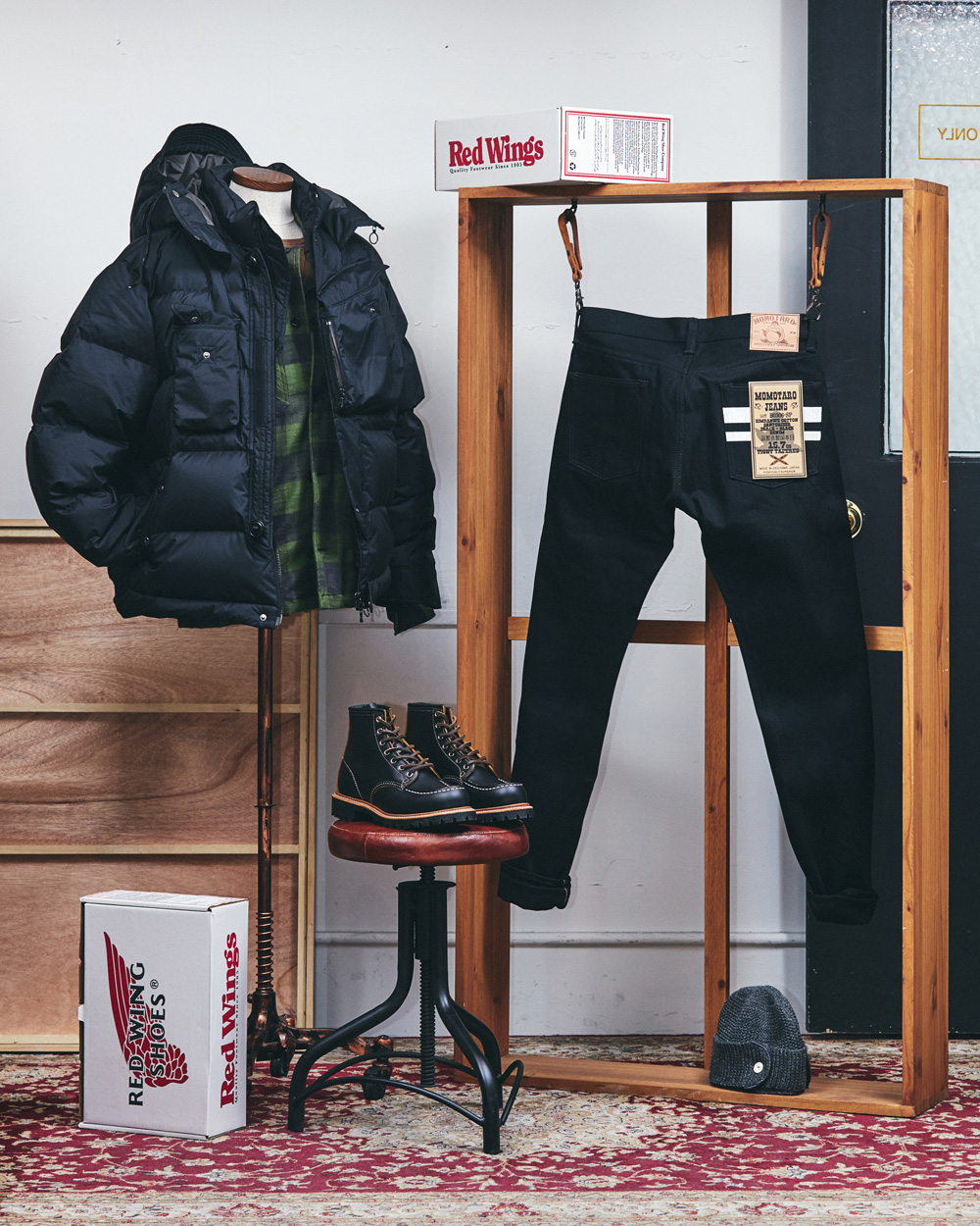 TODAY'S STYING - EASTLOGUE / NAKED&FAMOUS / BARNS OUTFITTERS / MOMOTARO / REDWING