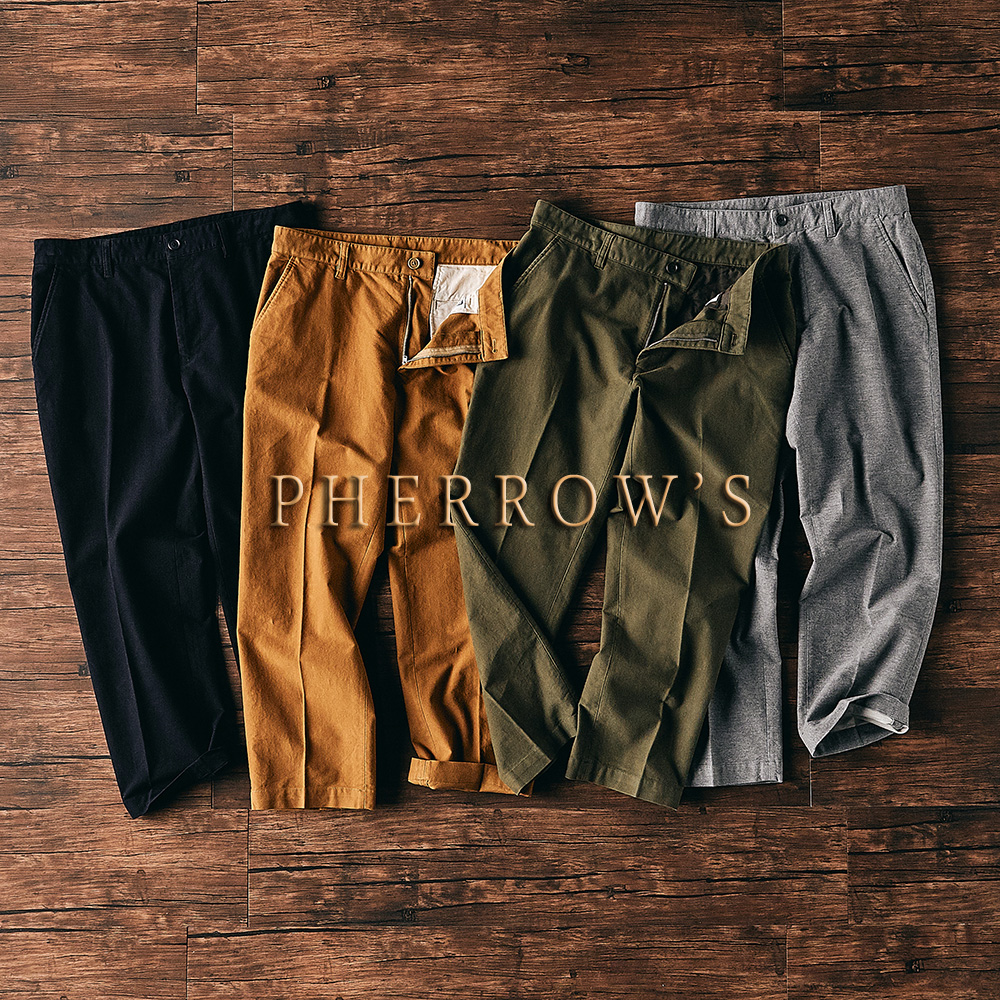 [NEW ARRIVALS] PHERROW'S 19AW MOLESKIN ANKEL CUT TAPERED TROUSER